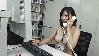 Hottest Japanese slut Mei Akizuki in Crazy Softcore, Office JAV movie