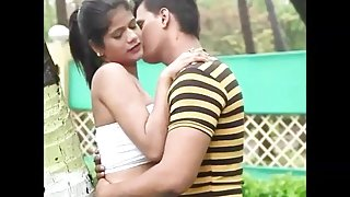 Couple romance in park public.mp4