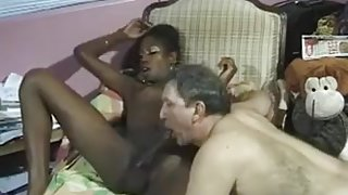 white lover sucks giant cock of sensational transsexual