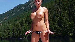 extremely hot muscle woman fucked on a boat