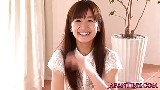 Petite Japanese teen Rimu Sasahara gets finger fucked and facialized