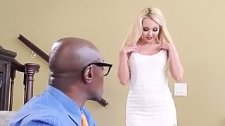 Ebony man s fucking tender blonde