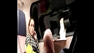 Tricky dick flash in public train to MILF who watching PublicFlashing.me