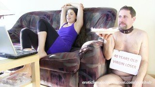 Brandy Smile objectifies and ignores her loser slave