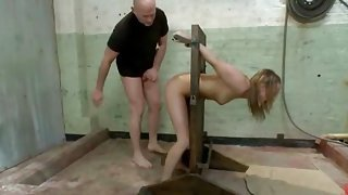 Girls are locked in the basement and then get fucked in humiliating slavery sex