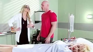 Blonde doctor fucked by her patient