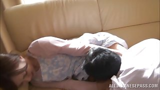 Arousing milf Kaede Fuyutsuki fucks with horny husband
