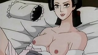 Cartoon geisha worships cock sensually