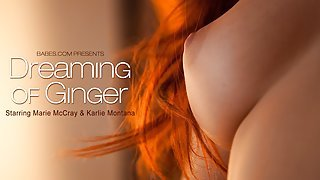 Fascinating red haired beauty takes...